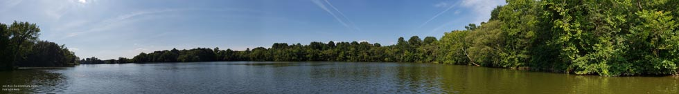 Panorama of the James River in Chesterfield Virginia