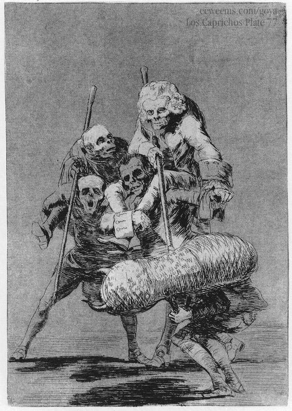 Goya. Los Caprichos, Plate 77,